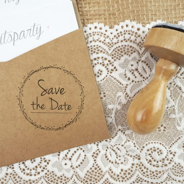 Stempel Hochzeit - Save the Date - Serie: Dots