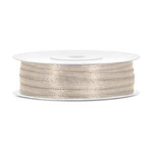 Satinband Beige 3mm · 50 Meter