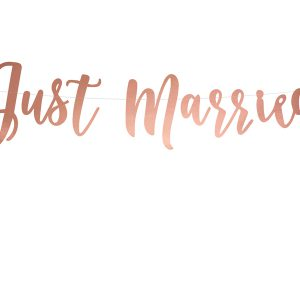 "Girlande ""Just Married"" · rosegold"