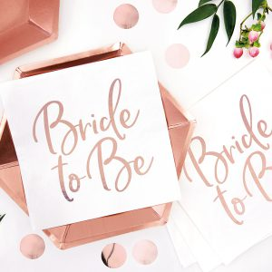 "Servietten ""Bride to be"" rosegold"