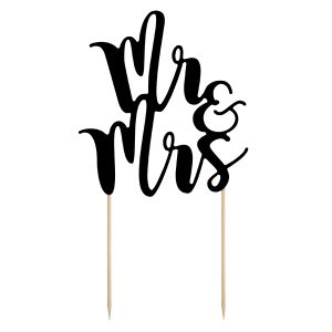 "Caketopper ""Mr & Mrs""schwarz"
