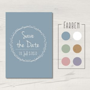 "Save the Date-Karte ""Dots"""