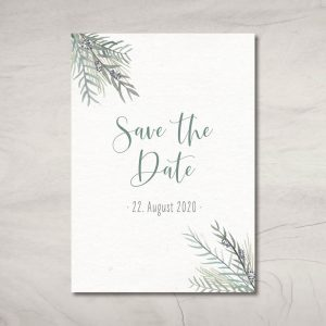 "Save the Date-Karte ""Greenery"""