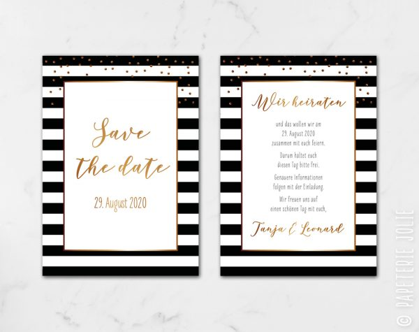 "Save the Date ""Love & Stripes"""