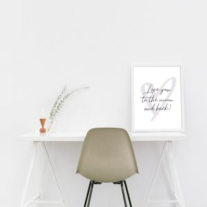 Poster - Love you to the moon and back